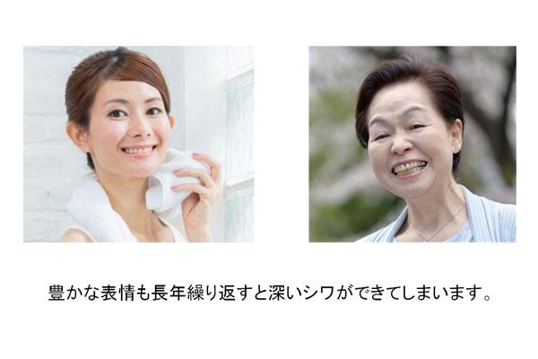 表情筋も、老化とともにシワの原因