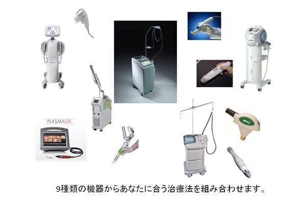 小じわ治療のための9種類の機器