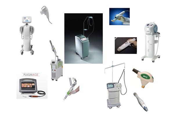 約8種類の機器